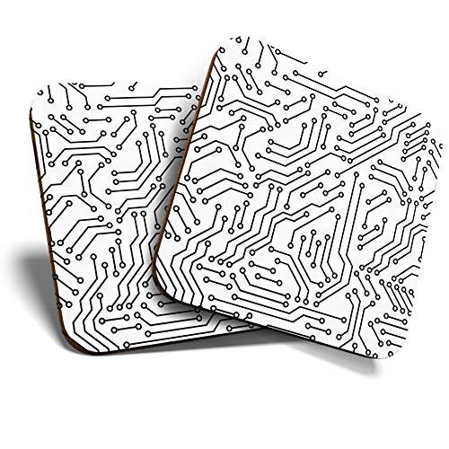 Great Coasters (Set de 2) Posavasos cuadrados/brillantes de calidad para cualquier tipo...