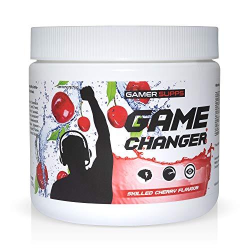 Energy Booster GAME CHANGER von GAMER SUPPS   eSports Energy Drink Pulver   Wenig Kalorien   Wenig Zucker   280g   40 Portionen