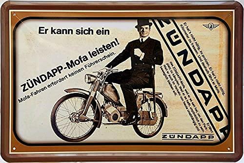 Tin Sign Blechschild 20x30 cm Zündapp Mofa historich Werbung Oldtimer Bar Kneipe Sammler Geschenk