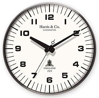 Harris & Co. Clockmasters Metal Silent Sweep Noiseless Technology Wall Clock (14 Inch) Model-Park Lane