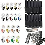 50pcs 25 colores gel esmaltes semipermanentes de uñas lápiz UV LED para pintura especial para uso salón, 3D nail art DIY diseño de uñas lápiz para dibujo de uñas, pintura de uñas en gel para manicura