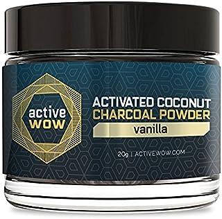 Active Coconut Charcoal Powder, Vanilla, 20g
