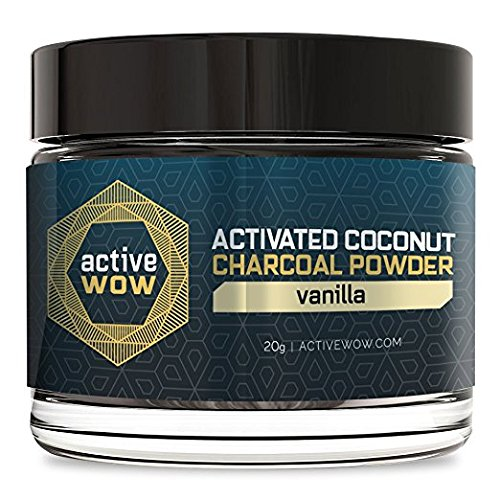 Active Coconut Charcoal Powder, Vanilla, 20g