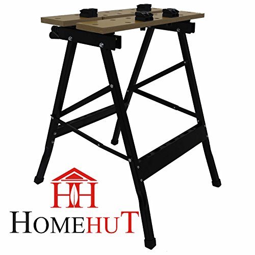 Heavy Duty 125KG Portable Folding Workbench Wood Bench Work Clamping Worktop DIY by HOME HUT®