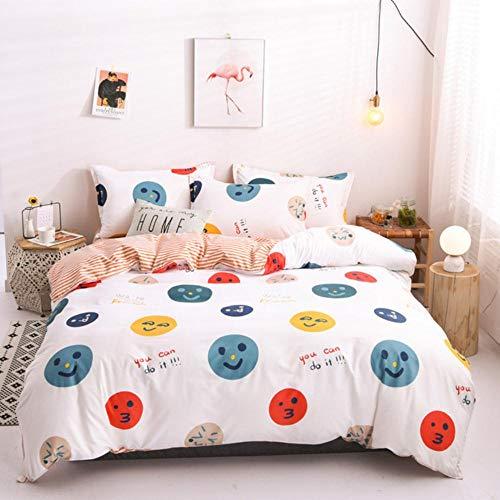 2021New Home Textiles Ropa de Cama de algodón Juego de Funda nórdica Sábana Plana Funda de Almohada Ropa de Cama Ropa de Cama Queen King Size 3 o 4 Uds