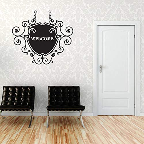 hetingyue welkomstkaart gepersonaliseerde naam sticker turbulentie ijzer naam merk Home Wall Art Office