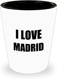 I Love Madrid Shot Glass Shotglass Funny Gift Idea For Liquor Lover Alcohol 1.5oz