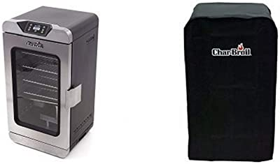 Char-Broil Deluxe Digital Electric Smoker, 725 Square Inch + Cover