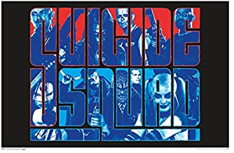Trends International Suicide Squad Group Black Light Wall Poster 23