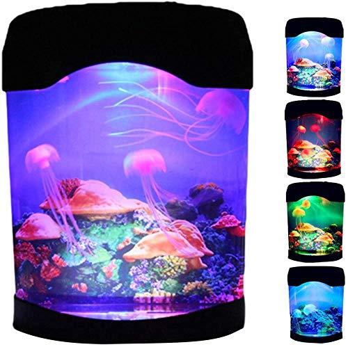 Lámpara de medusa con luces que cambian de color - Mini acuario...