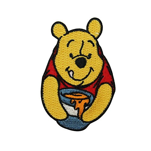 Pooh Bear & Honey Snack Iron On Patch DIY Children's Outfit Decoration Applique