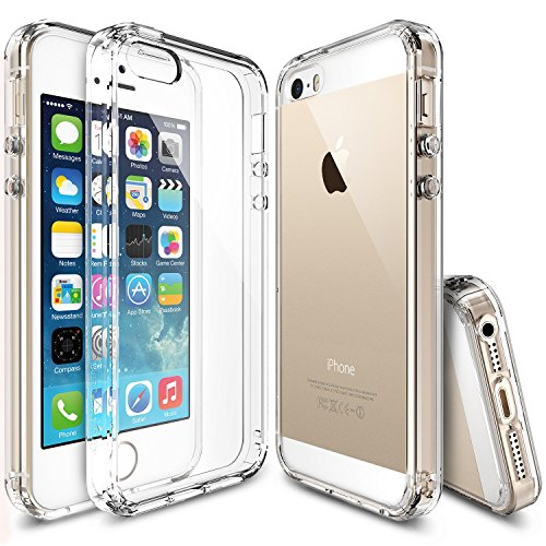 Ringke Cover iPhone SE Fusion Chiaro Progettato per Apple iPhone SE / 5S /5 (2019) Custodia iPhoneSE Trasparente Clear
