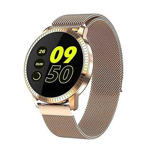 XQPK CF18 Donne/Uomini Nuovo Tipo Intelligente Orologio Digitale Femminile Chiamata Promemoria Cardiofrequenzimetro Orologio Calorie Step Beauty Watch (C) (E)