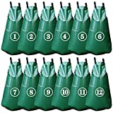 Tanzfrosch 12 Pack 20 Gallon Tree Watering Bags, Reusable, Heavy Duty and Slow Release Gator Bags for Trees, Premium PVC Plant Drip Irrigation Bags,5-8 Hours Releasing Time