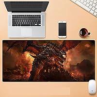 World of Warcraft超大型 游戏鼠标垫 防水 耐久性 桌垫 大型鼠标垫 900*400*3毫米 大型 桌垫 防滑 时尚 耐洗表面 可自由操作 大理石-A_900*400*3MM