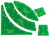 Quilter's Paradise Slit N Sew Double Wedding Ring Set Templates - Acrylic, none