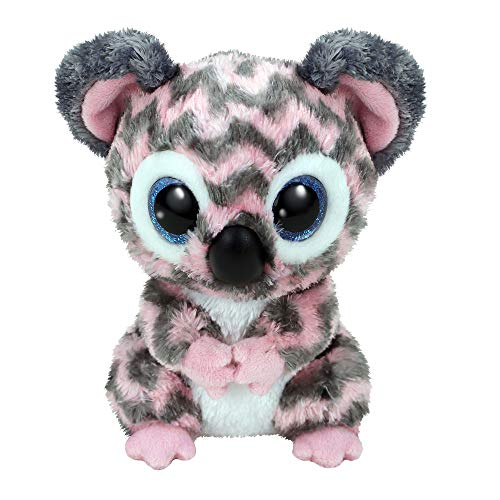 Claire's Exclusive Official Ty Beanie Boo Kora The Koala Soft Plush Toy for Girls, Pink/Gray, Small, 6 Inches