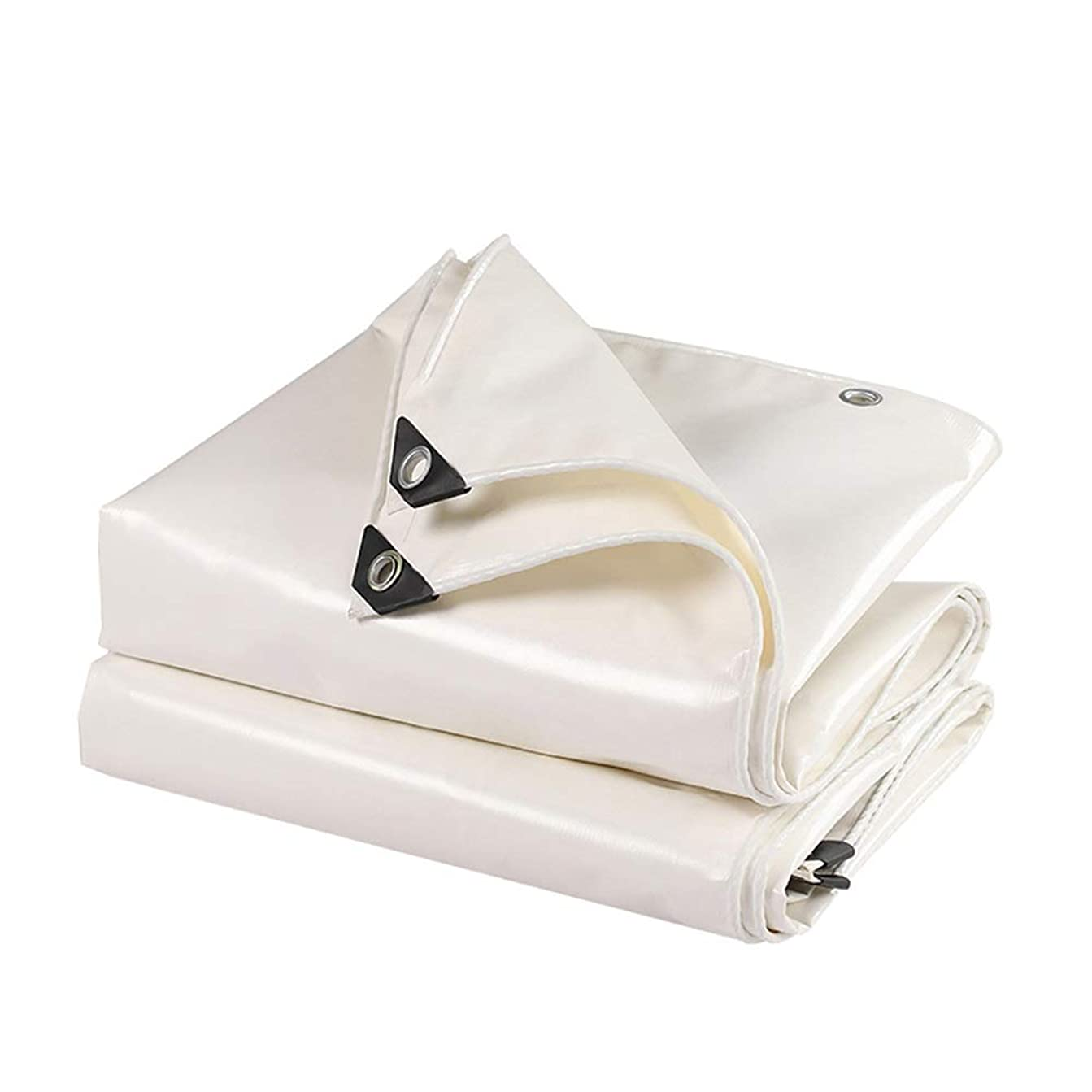 イーウェル専ら文句を言うHPLL 多目的防水シート 白は防雨布、屋外日焼け止めターポリン伸縮式小屋プッシュプルターポリン防水キャノピー布キャンバスをカバーするレインリノリウムを厚くします 防水シートのプラスチック布,防雨布 (Size : 2m×2m)