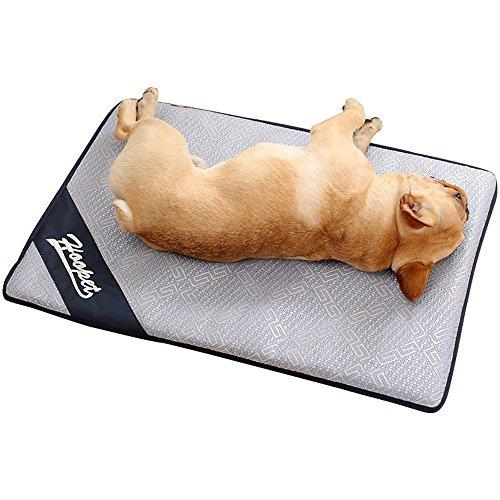 TFENG Hundebett Matte, Waschbar Weiche Hundekissen, rutschfeste Hundematte Sommer Kühlmatte für Hunde Katzen, im ganzen Jahr (Size L)