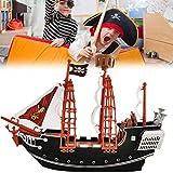 kylew Los niños los niños simulan Jugar Barco Pirata Jugar Cannon Treaure Pirata Figuras de Juguete con Figuras