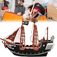 KUTO 海賊船のおもちゃ、子供たちの子供たち海賊船モデルのふりおもちゃ、家の装飾ガジェットの装飾品子供のための海賊船の贈り物
