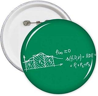 Formula Function Area Midpoint Pins Badge Badge Badge Emblème Accessoire Décoration 5 pcs