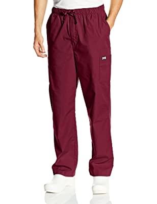 Cherokee Men's Originals Cargo Scrubs Pant, Wine, Large
