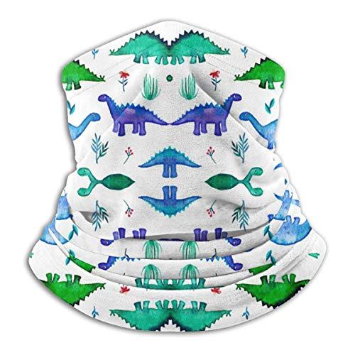 power1 Gesichtsbedeckung Dinos Pattern Base White Shop Halsmanschette Bandanas für Staub Wind Sonnenschutz, im Freien, Festivals, Sport