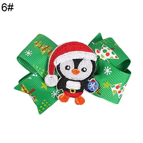 E-House Kerstmis leveringen Kerstmis boogvorm glitter eland kerstmuts pinguïn haarspeld baby meisjes haarspeld - 1# 6#