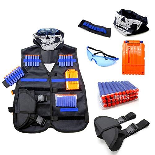 Traje táctico del Chaleco para niños Elite Soft Bullet Gun Accessories Equipo Chaleco Mascarilla Táctica Gafas de muñeca con Regalos
