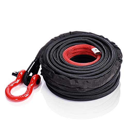 """ORCISH Synthetic Winch Rope 3/8"""" x 100ft 23809lbs Dyneema Winch"""