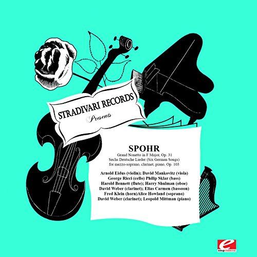 Sechs Deutsche Lieder (Six German Songs) for mezzo-soprano,