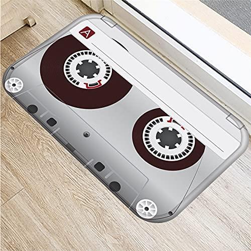 OPLJ 3D-Bandmuster drucken Magnetbandmatten Anti-Rutsch-Boden-Teppich-Fußmatte für Eingangsteppiche Home Fußmatte Dekor A5 60x90cm