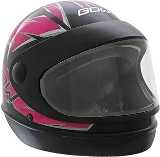 X Capacete Interlagos Preto/Rosa Gow 56