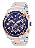 Invicta Men's Aviator Quartz Watch with Stainless Strap, Steel, Rose Gold, 24 (Model: 32314)