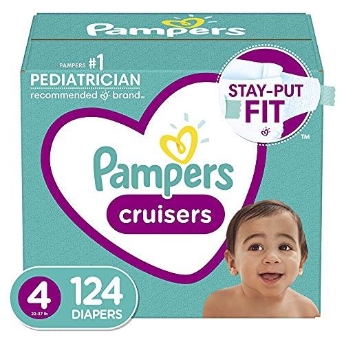 Pampers Cruisers Pañales Etapa 4, con 124 Piezas