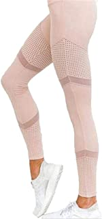 Generies Yoga Pants High Waist Sports Leggings Women Workout Mesh Leggings Breathable Stretch Elastic Pants