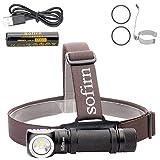 Sofirn SP40 led Stirnlampe 1200 Lumen CREE XPL LED Kopfleuchte mit 18650 Batterie und Magnet für Outdoor Explo Jagd