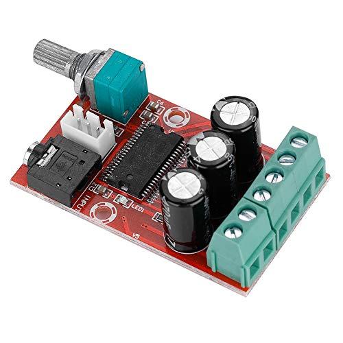 Zerone Tarjeta Amplificador de Potencia Digital de Alta Potencia, Tarjeta Amplificador Estéreo Digital de Doble Canal módulo de Clase D 12W X 2