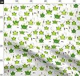 Frosch, Jungen, Strampelhosen, Tiere, Maulbeerbaum Stoffe -