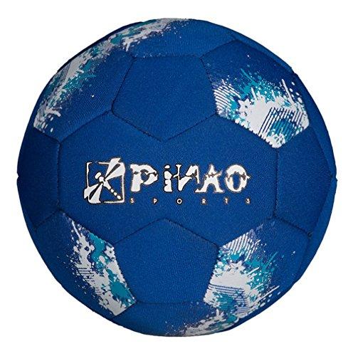 PiNAO Sports - Neopren-Mini-Fußball, Größe 2, Blau (31022) [Kinder, Fußball klein, Minifußball, Miniball, Strand, Beach, Ball]