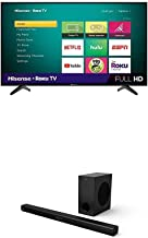 Hisense 43-Inch Class H4 Series LED Roku Smart TV with Alexa Compatibility & 2.1 Channel Sound Bar Home Theater System wit...