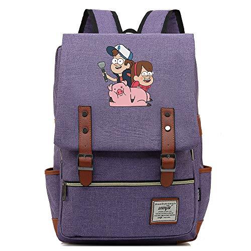 Borsa da scuola Anime Gravity Falls, Uomo Donna Bambini Outdoor Campeggio Escursionismo Zaino da viaggio, Zaino per laptop da 15 pollici 14 pollici. Colore-03.