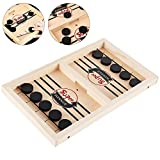 Ghopy Slingpuck - Juego de mesa divertido y rápido de slingpuck, juego de mesa de madera para niños y fiestas familiares