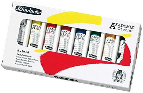 Schmincke Künstlerfarben Akademie Öl-Color Ölmal-Sortiment 8x20ml [Spielzeug]