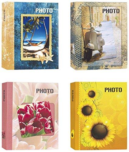 Zep Album photo à pochettes 13 x 19 cm. pour 200 photos 13 x 19, 13 x 18, 13 x 17, 12 x 18 – Photo motifs variés – Tournesol