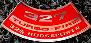 CHEVROLET AIR CLEANER TOP LID DECAL For The 327 TURBO-FIRE 325 hp HORSEPOWER ENGINE - STICKER