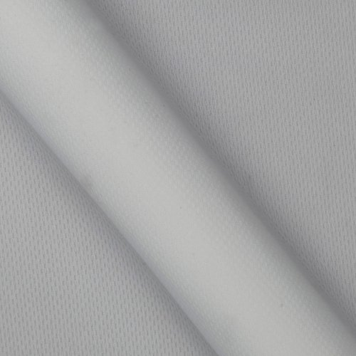 Textile Creations Athletic Mesh Knit White Fabric By The Yard