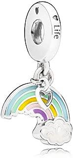 pandora rainbow heart charm