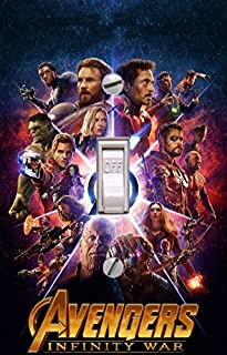 The Avengers Infinity War - Light switch Cover- The Avengers- Switch Plate Cover- Super Hero decor